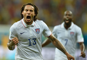 USAs Jermaine Jones Goalscorer