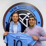 Cutline is Mix Diskerud, Claudio Reyna (l-r)