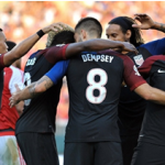 U.S. Players Celebrate Dempsey's Goal
