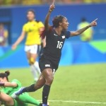 Crystal Dunn Celebrates First U.S. Goal