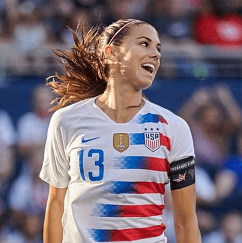 Alex Morgan, Co-Captain, USWNT 2019 World Cup Team (With